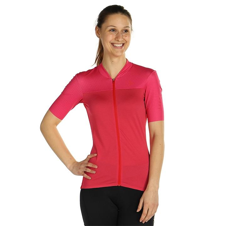 CRAFT Damesshirt Hale Glow damesfietsshirt, Maat M, Wielershirt, Fietskleding