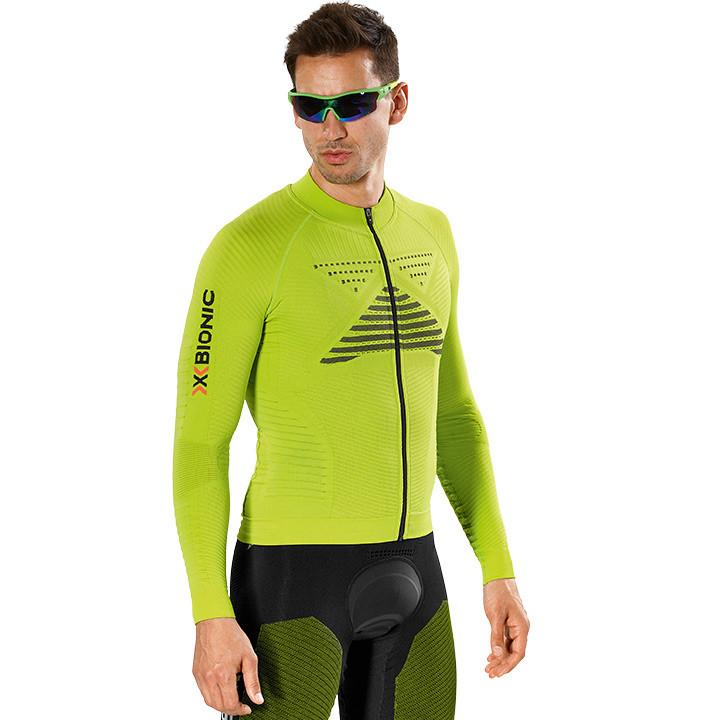 X-BIONIC shirt met lange mouwen Effektor Power lime-zwart fietsshirt met lange m