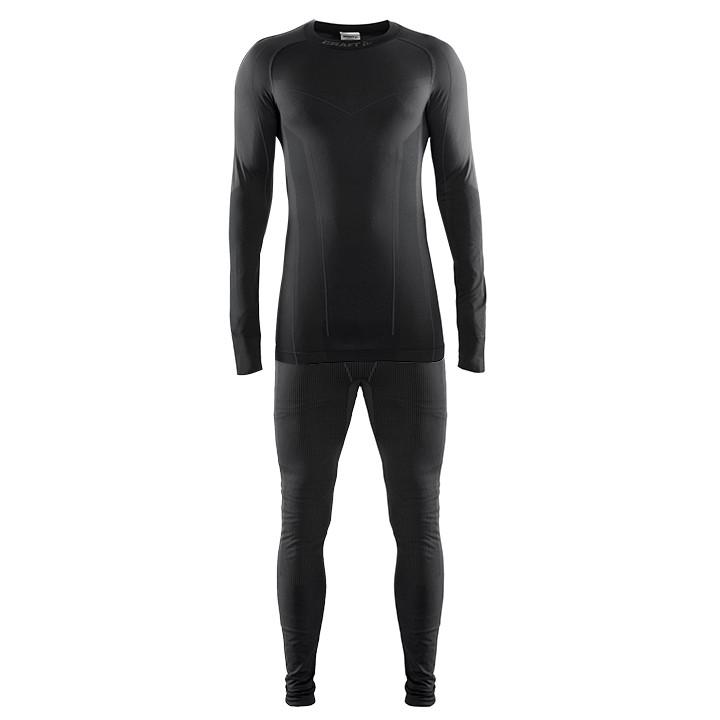 CRAFT ondergoedset Seamless Zone (2 delen) zwart, voor heren, Maat S, Onderhemd,