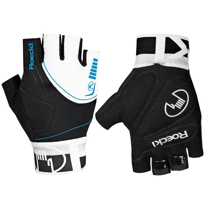 ROECKL Bergamo, zwart-wit-blauw handschoenen, voor heren, Maat 7,