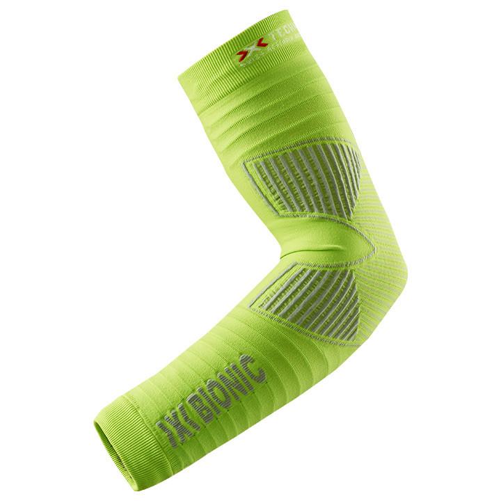 X-BIONIC Effektor Power, lime-grijs armstukken, voor heren, Maat 2XL, Armwarmer,