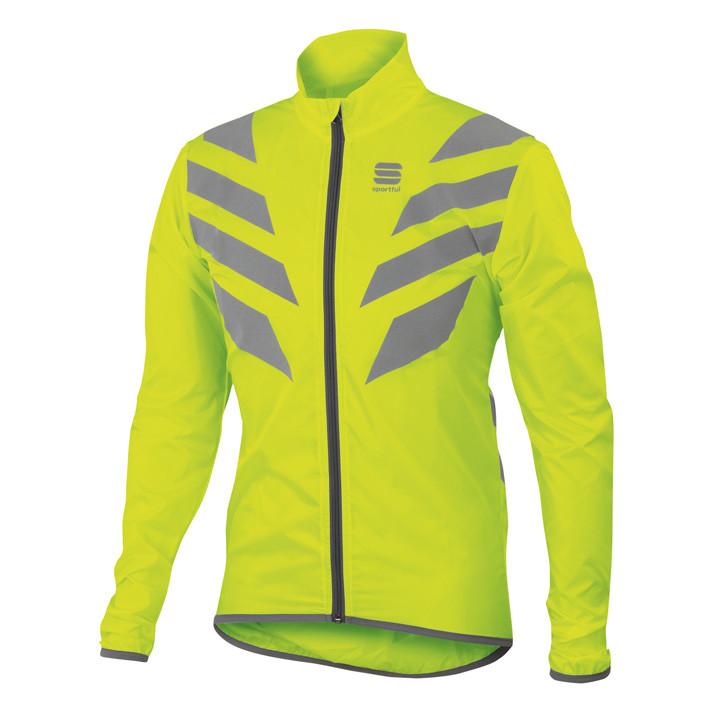 SPORTFUL Reflex 2 neon-geel windjack, voor heren, Maat M, Fietsjas, Fietskleding