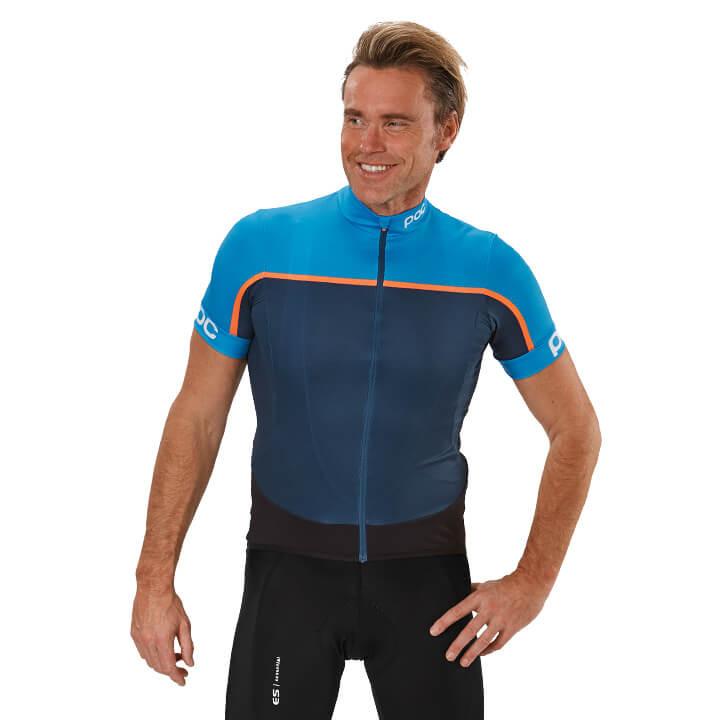 POC Shirt met korte mouwen Essential Road Block fietsshirt met korte mouwen, voo