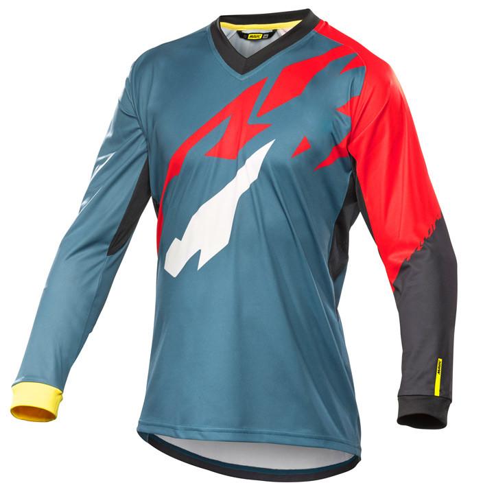 MAVIC MTB-shirt met lange mouwen Crossmax Pro grijs-rood fietsshirt met lange mo