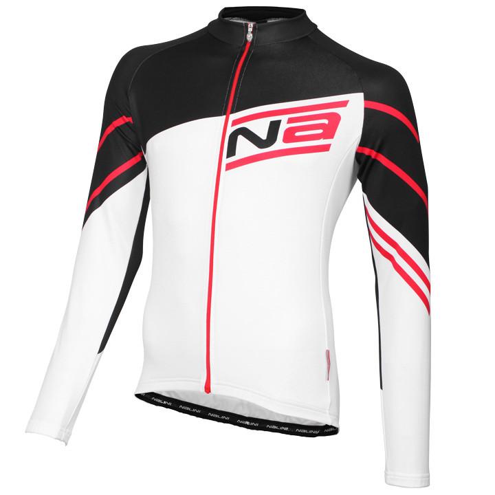 NALINI PRO shirt met lange mouwen Phalaris wit-zwart-rood fietsshirt met lange m