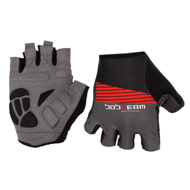 Fietshandschoenen, BOBTEAM Performance Line II zwart-titanium handschoenen, voor