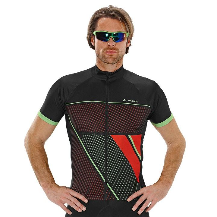 VAUDE Argus, zwart fietsshirt met korte mouwen, voor heren, Maat L, Fietsshirt,
