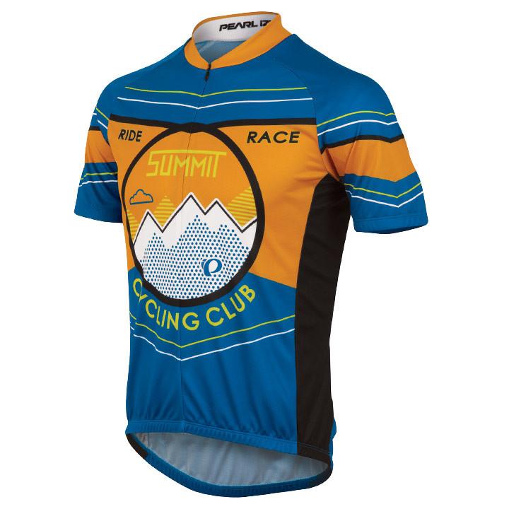 PEARL IZUMI Select LTD Summit Cycle, blauw-oranje fietsshirt met korte mouwen, v