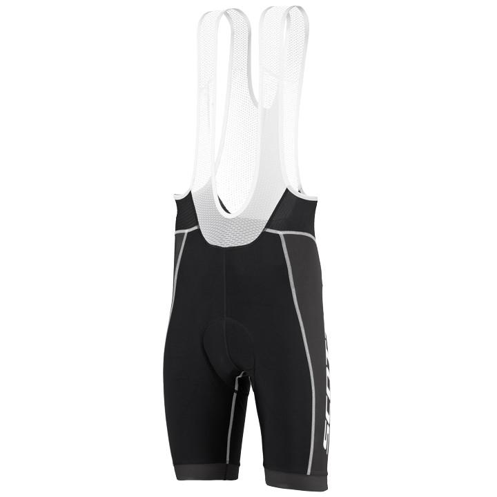 SCOTT korte broek met bretels Endurance 10 zwart-wit korte koersbroek, voor here