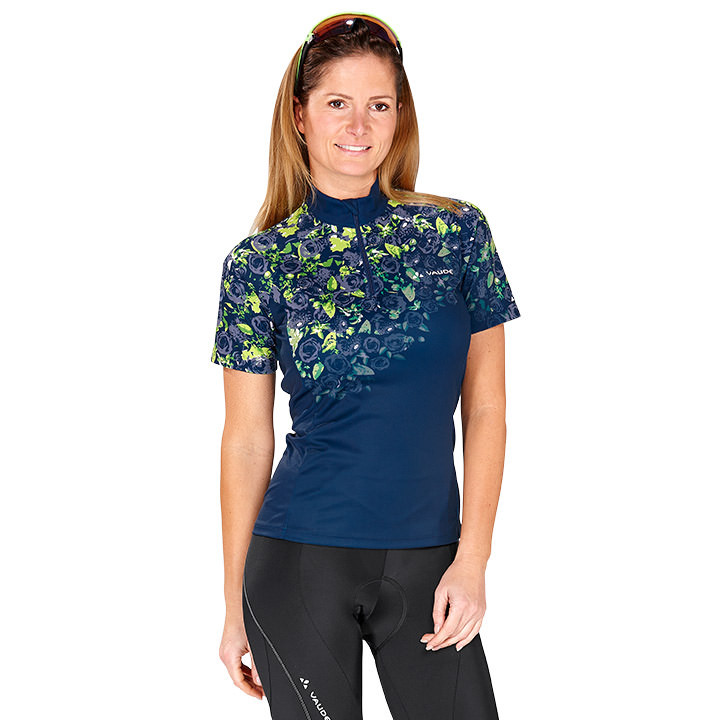 VAUDE damesshirt met korte VAUDE Loveline damesfietsshirt, Maat 38, Wielrenshirt