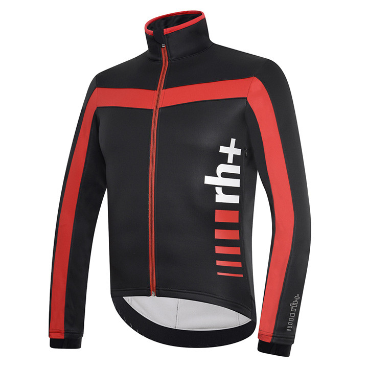 rh+ winterjack Logo zwart-rood Thermojack, voor heren, Maat M, Fietsjas, Fietskl