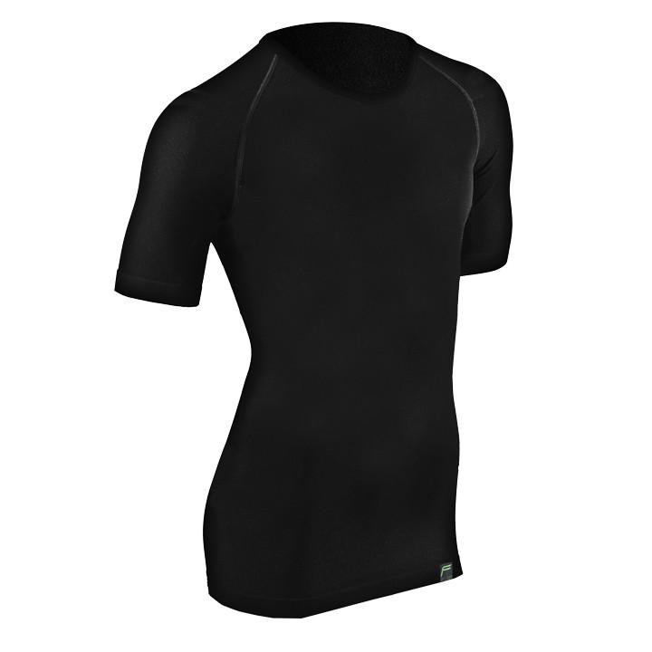 F-LITE Organic Bamboo zwart onderhemd, voor heren, Maat L, Onderhemd, Wielerkled