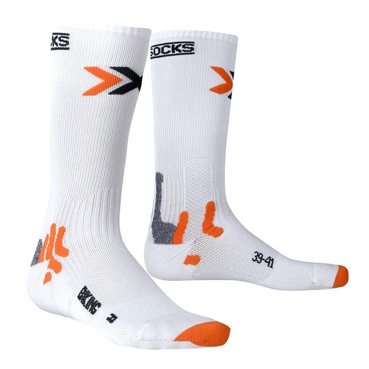 X-SOCKS Bike Mid Energizer, wit fietssokken, voor heren, Maat L, Wielerkleding