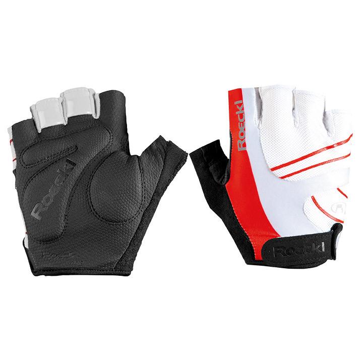ROECKL Bagwell, wit-rood handschoenen, voor heren, Maat 7, Fietshandschoenen, Wi