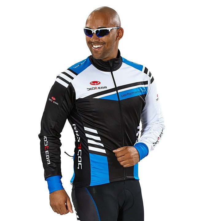 Fiets jack, BOBTEAM PERFORMANCE LINE III winterjack zwart-wit-blauw Thermojack,