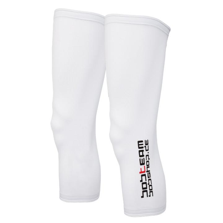 Kniewarmer, BOBTEAM Infinity, wit kniestukken, voor heren, Maat XL, Wielerkledin