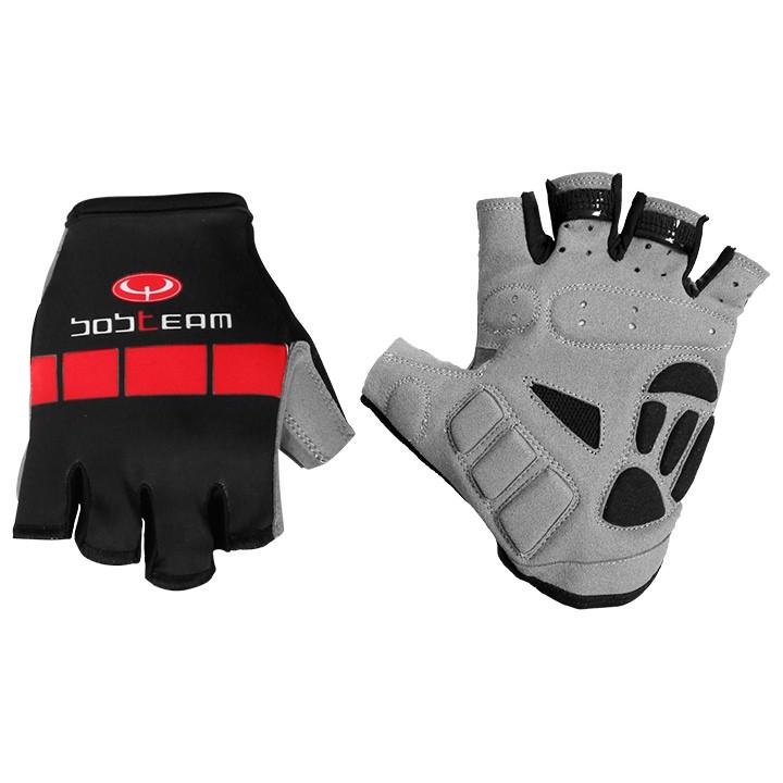 Wielerhandschoenen, BOBTEAM COLORS handschoenen, zwart- rood handschoenen, voor