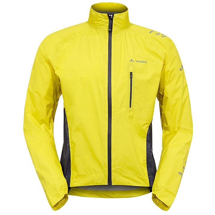 VAUDE Spray IV, geel-grijs regenjack, voor heren, Maat M, Regenjas, Regenkleding