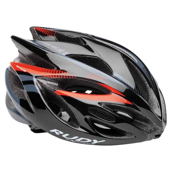 RUDY PROJECT Rush black-red fluo shiny fietshelm, Unisex (dames / heren), Maat L