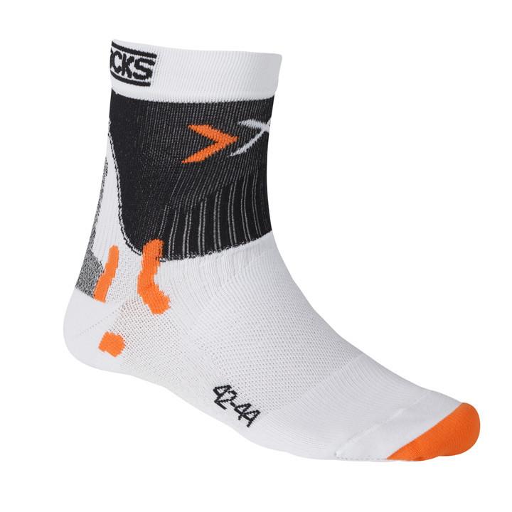 X-SOCKS Pro Smart Compression wit-zwart fietssokken, voor heren, Maat S, Fiets k