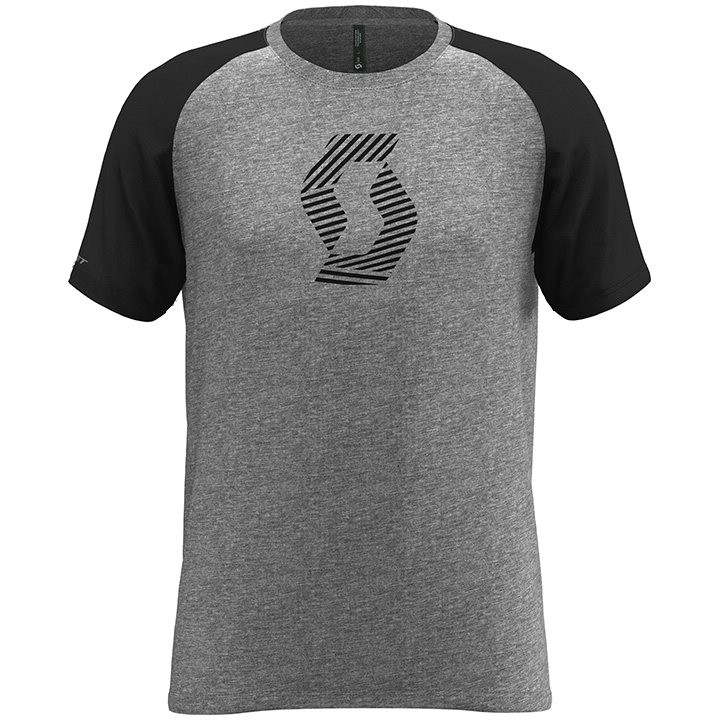 SCOTT T-shirt 10 Icon Raglan t-shirt, voor heren, Maat L, MTB shirt, Mountainbik