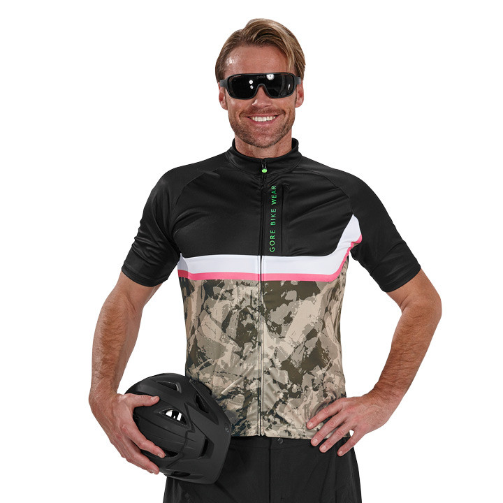 GORE Power Trail camouflage-zwart bikeshirt, voor heren, Maat XL, Wielershirt, F