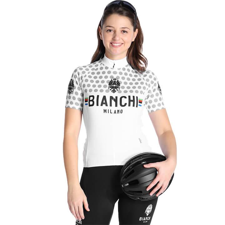 BIANCHI MILANO Damesshirt Crosia damesfietsshirt, Maat M, Wielershirt, Fietskled