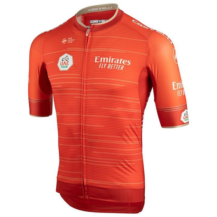 UAE Tour 2019 fietsshirt met korte mouwen, voor heren, Maat L, Wielershirt, Wiel