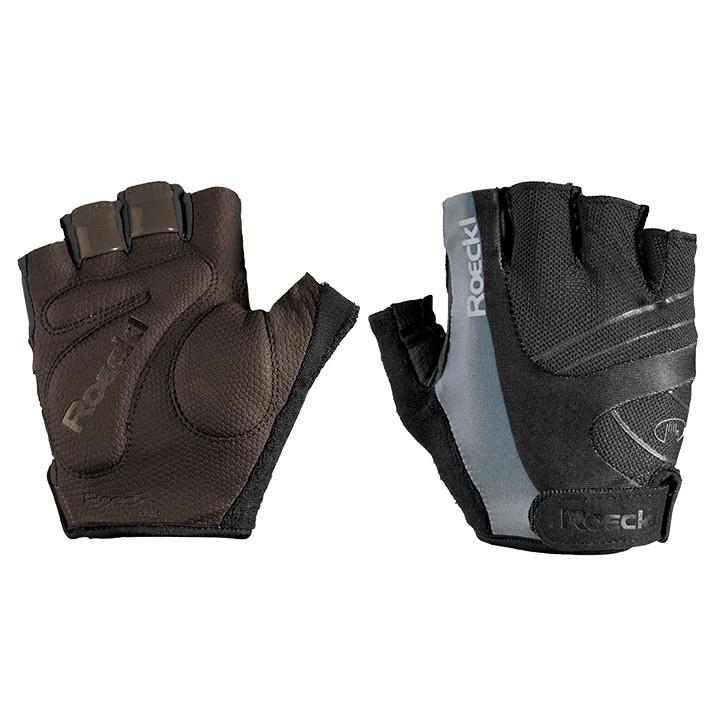ROECKL Bagwell, zwart-grijs handschoenen, voor heren, Maat 6,5, Fiets handschoen
