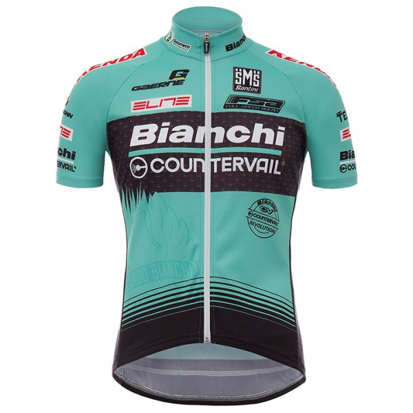 Maillot manches courtes BIANCHI COUNTERVAIL 2017
