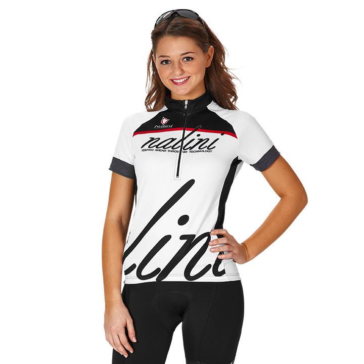 NALINI PRO Classic Lady, wit-zwart damesfietsshirt, Maat XL, Wielershirt,
