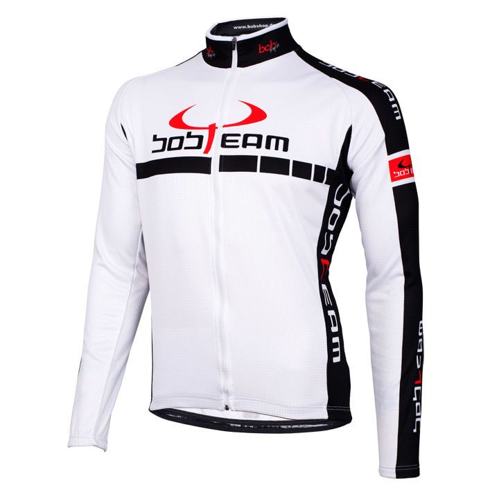 Fiets shirt, BOBTEAM Colors fietsshirt met lange mouwen, voor heren, Maat 3XL, W