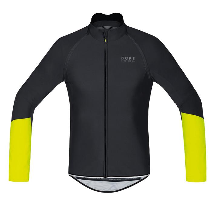 / maillot GORE WEAR Power WS SO Zipp-Off negro-amarillo neón Light Jacket, para