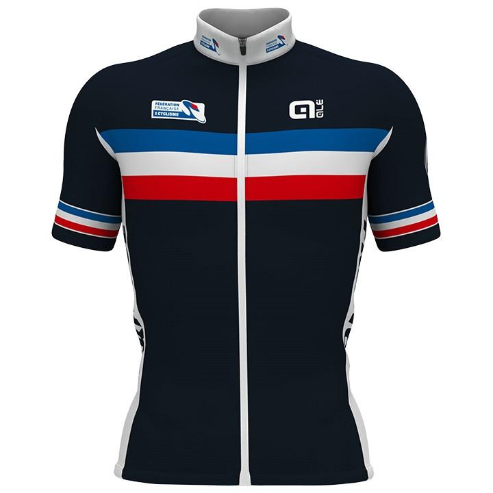 FRANSE NATIONAL TEAM 2017 fietsshirt met korte mouwen, voor heren, Maat XL,