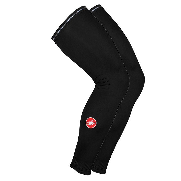 CASTELLI Light SPF50+ zwart beenstukken, voor heren, Maat S, Beenwarmer, Wielerk