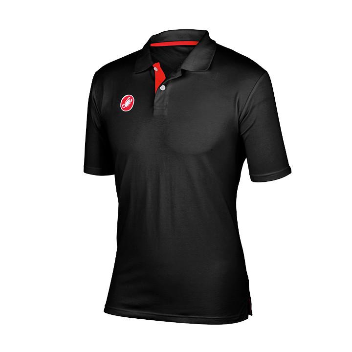 CASTELLI Race-Day, zwart poloshirt, voor heren, Maat S, MTB shirt, Mountainbike