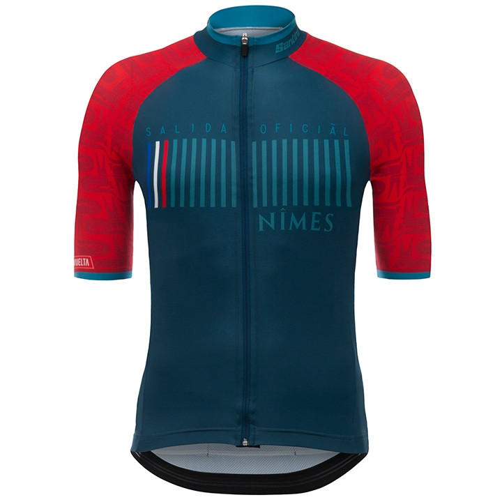 LA VUELTA Nîmes 2017 fietsshirt met korte mouwen, voor heren, Maat M, Fietsshirt