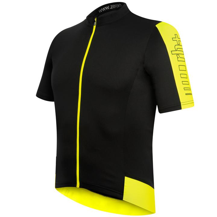 RH+ Energy, zwart-neongeel fietsshirt met korte mouwen, voor heren, Maat M, Fiet