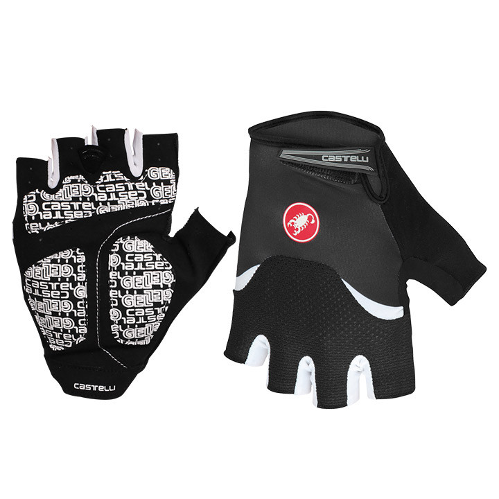 CASTELLI Arenberg Gel, zwart-wit handschoenen, voor heren, Maat S, Fietshandscho