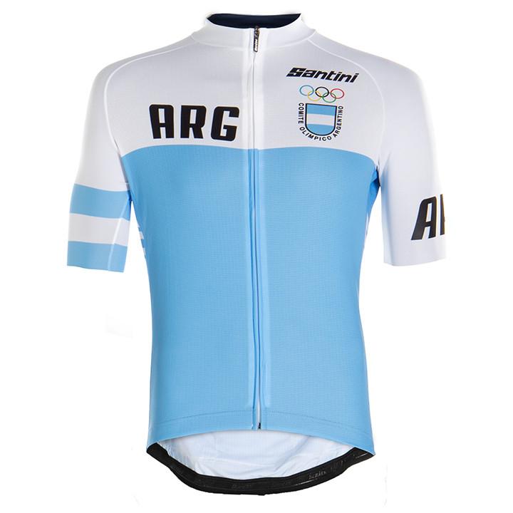 ARGENTIJNS NATIONAAL TEAM fietsshirt met korte mouwen 2020, voor heren, Maat 2XL