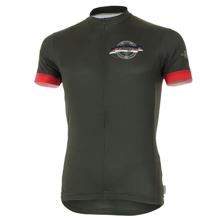 MALOJA RileyM. zwart fietsshirt met korte mouwen, voor heren, Maat S, Wielrenshi
