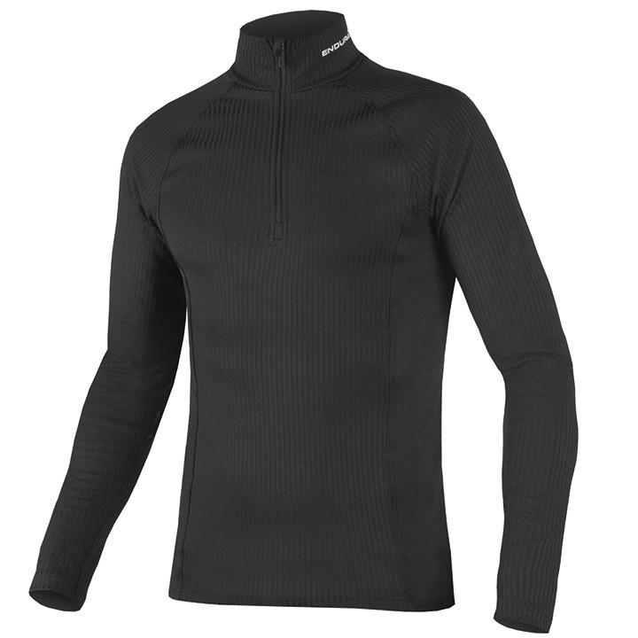 ENDURA Fietsmet lange mouwen Transrib onderhemd, voor heren, Maat M, Onderhemd,