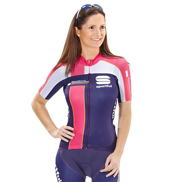 SPORTFUL damesshirt Gruppetto Pro, lila-roze damesfietsshirt, Maat M, Wielershir