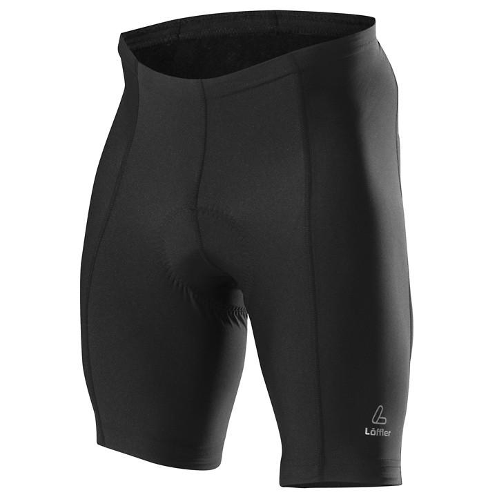 LÖFFLER Basic, zwart korte fietsbroek, voor heren, Maat 3XL, Fietsbroekje, Fiets
