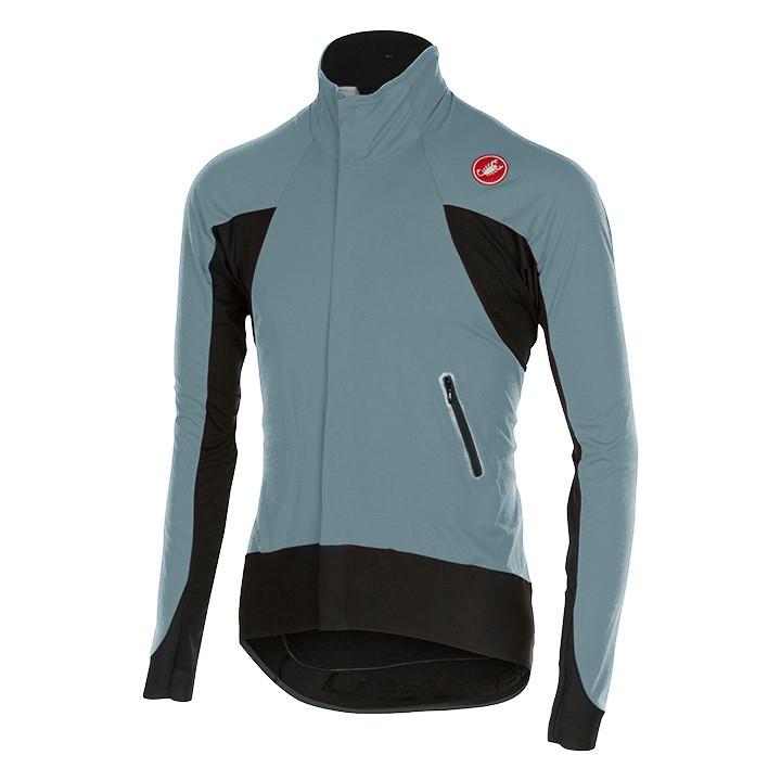 CASTELLI Alpha grijs-zwart Light Jacket, voor heren, Maat M, Fietsjas, Fietskled