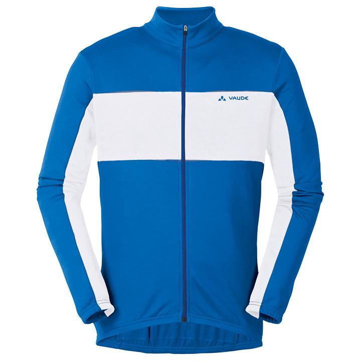 VAUDE shirt met lange mouwen Matera II blauw-wit fietsshirt met lange mouwen, vo