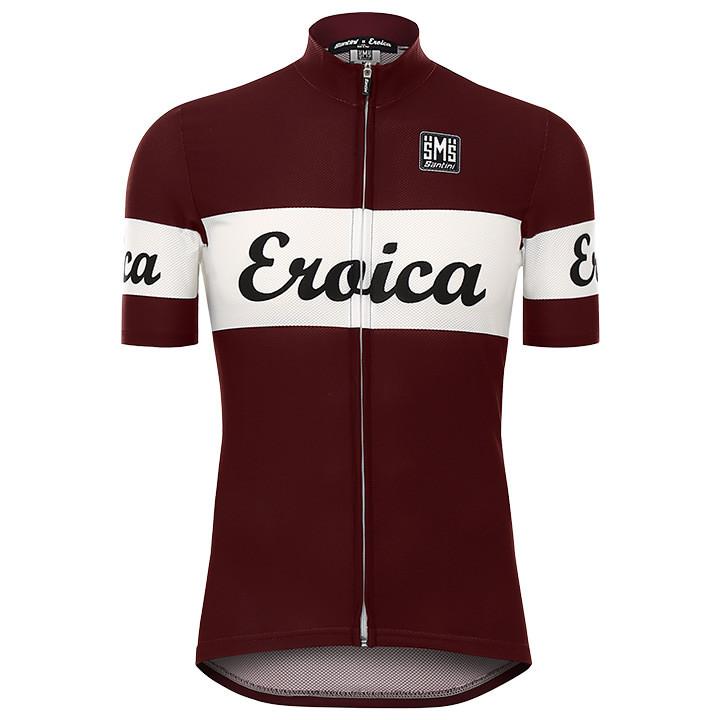 SANTINI shirt met korte mouwen Eroica Vino fietsshirt met korte mouwen, voor