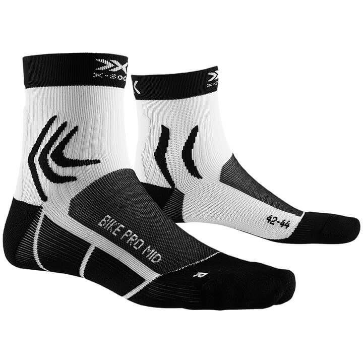 X-SOCKS Fietssokken Bike Pro Mid fietssokken, voor heren, Maat S, Fiets kleding