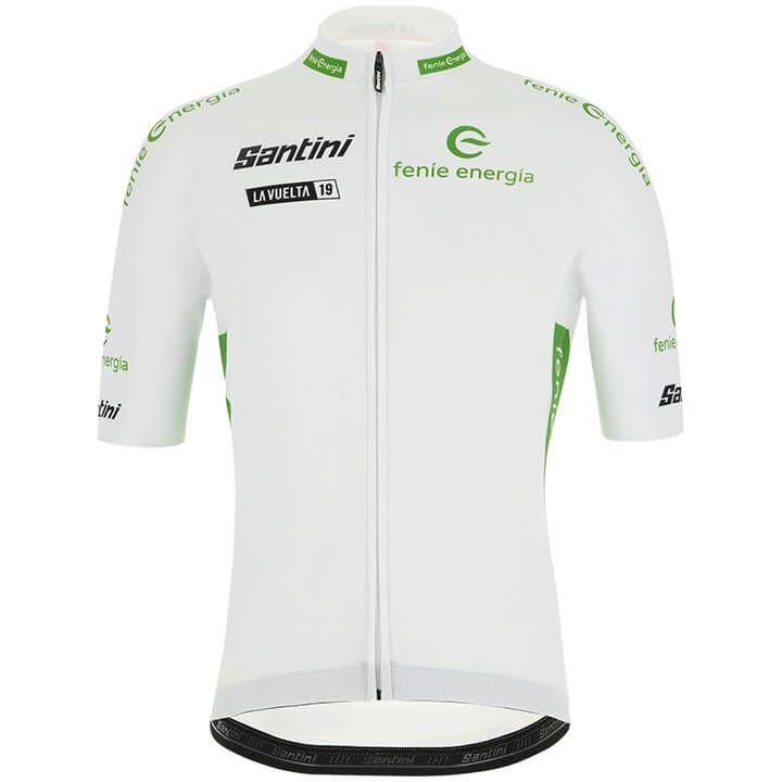 La Vuelta 2019 Witte fietsshirt met korte mouwen fietsshirt met korte mouwen, vo