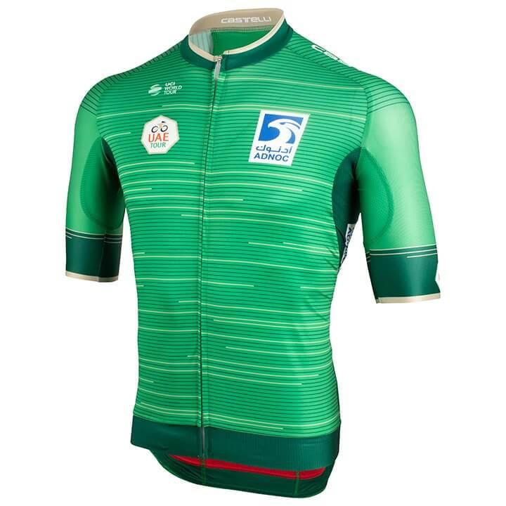 UAE Tour 2019 fietsshirt met korte mouwen, voor heren, Maat XL, Wielrenshirt, Fi